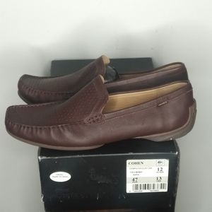 LACOSTE men's leather loafers - size 13 - NWT